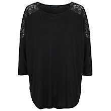 Buy French Connection Atty Lace Top, Black Online at johnlewis.com