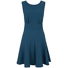 Buy Almari Waffle Fit and Flare Dress, Teal Online at johnlewis.com