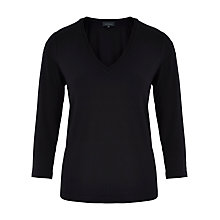 Buy Viyella V-Neck Jersey Top, Black Online at johnlewis.com