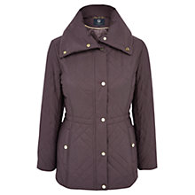 Buy Viyella Petite Quilted Parka, Espresso Online at johnlewis.com