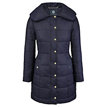 Buy Viyella Waterproof Quilted Coat, Navy Online at johnlewis.com