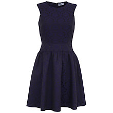 Buy Whistle & Wolf Jacquard Dress, Navy Online at johnlewis.com
