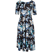 Buy Closet Floral Midi Dress, Blue Online at johnlewis.com
