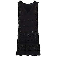 Buy French Connection Milena Jewel Embellished Dress, Black Online at johnlewis.com