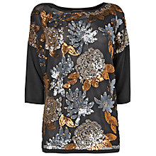 Buy Phase Eight Steph Sequin Jumper, Metallics Online at johnlewis.com