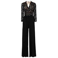 Buy Phase Eight Saskia Lace Jumpsuit, Black Online at johnlewis.com
