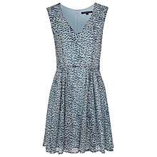 Buy French Connection Wild Cat Chiffon Flare Dress, Morning Frost Multi Online at johnlewis.com