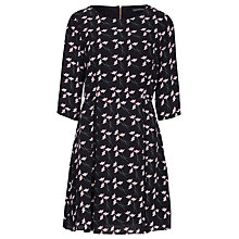 Buy Sugarhill Boutique Deco Flower Fit And Flare Dress, Black Online at johnlewis.com