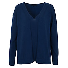 Buy French Connection Cotton & Wool Blend Autumn Chopin Jumper, Prussian Blue Online at johnlewis.com