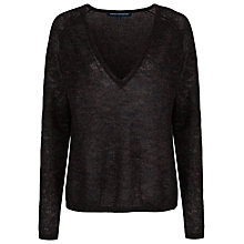 Buy French Connection Frost Sparkle V-Neck Jumper, Gold Fleck Online at johnlewis.com