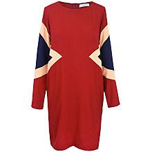 Buy Paisie Three Tone Shift Dress, Burgundy Beige & Navy Online at johnlewis.com