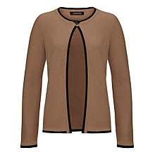 Buy Jaeger Cashmere Tipped Cardigan, Camel / Black Online at johnlewis.com