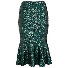 Buy French Connection Fast Sirius Sequin Mermaid Skirt, Green Online at johnlewis.com