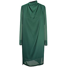 Buy Paisie Multi-Layered High Collar Dress, Dark Green Online at johnlewis.com