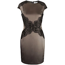 Buy Paisie Cap Sleeve Dress, Brown/Black Online at johnlewis.com