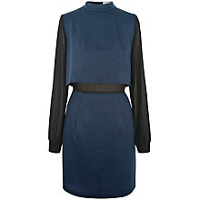 Buy Paisie Double Layer Dress, Navy/Black Online at johnlewis.com
