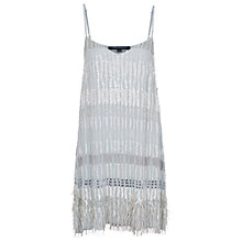 Buy French Connection Sequin V-Neck Dress, Morning Frost Online at johnlewis.com