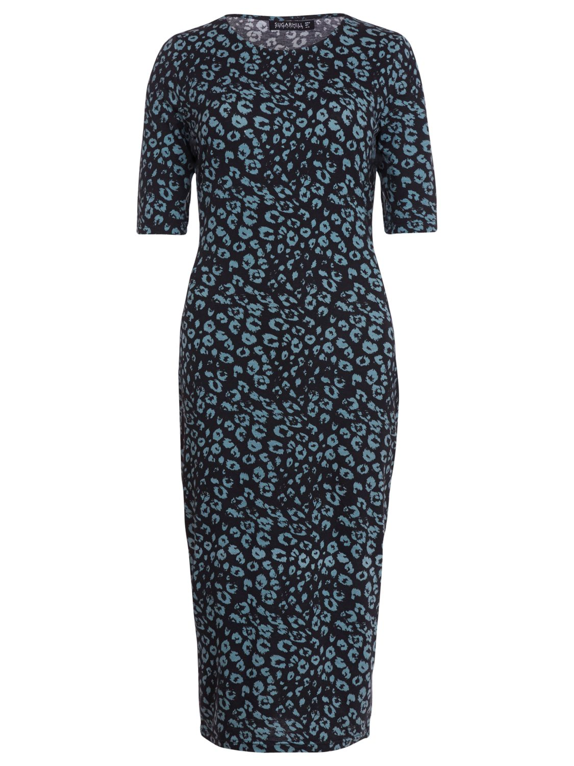 sugarhill boutique leopard bodycon dress teal, sugarhill, boutique, leopard, bodycon, dress, teal, sugarhill boutique, 8|16, clearance, womenswear offers, womens dresses offers, women, womens dresses, special offers, 1707624