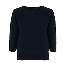 Buy French Connection Mozart Cotton Jumper, Utility Blue Online at johnlewis.com