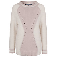 Buy French Connection Hester Cotton Jumper, White Hare / Birch Online at johnlewis.com