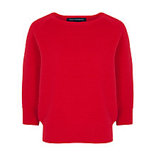 Buy French Connection Mozart Cotton Jumper, Royal Scarlet Online at johnlewis.com
