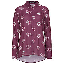 Buy Sugarhill Boutique Folk Heart Blouse, Mulberry Online at johnlewis.com