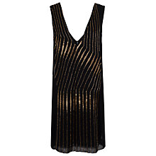 Buy French Connection Atlantic Wave Sleeveless Dress, Black Online at johnlewis.com