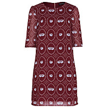 Buy Sugarhill Boutique Swan Cameo Tunic Dress, Burgundy Online at johnlewis.com