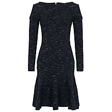 Buy French Connection Fast Pepper Long Sleeved Jersey Dress, Black Space Dye Online at johnlewis.com