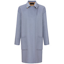 Buy Jaeger Double Face Coat, Ice Blue / Mole Online at johnlewis.com