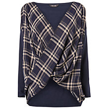 Buy Phase Eight Tori Twist Check Jumper, Navy Online at johnlewis.com