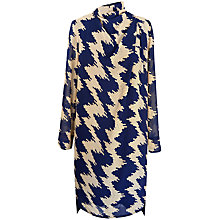 Buy Paisie Wavy Striped Print Tunic Dress, Navy & Beige Online at johnlewis.com