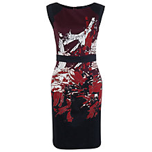 Buy French Connection Shard Sleeveless Dress, Red Deer Online at johnlewis.com