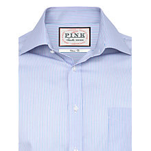 Buy Thomas Pink Ferguson Stripe Shirt, Lilac/White Online at johnlewis.com