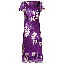 Buy Jacques Vert Devore Floral Dress, Purple Online at johnlewis.com
