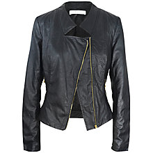 Buy Paisie Biker Jacket, Black Online at johnlewis.com