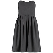 Buy Wolf & Whistle Georgette Strapless Panelled Dress, Black Online at johnlewis.com