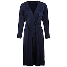 Buy Jaeger Waterfall Silk Dress, Navy Online at johnlewis.com
