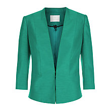 Buy Jacques Vert Satin Trim Jacket, Green Online at johnlewis.com