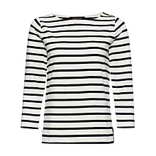 Buy Jaeger Breton Top, Black / Ivory Online at johnlewis.com