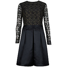 Buy Ted Baker Lace Top Full Skirt Dress, Black Online at johnlewis.com