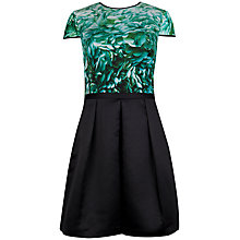 Buy Ted Baker Rosette Print Top Dress, Green Online at johnlewis.com