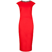 Buy Ted Baker Embellished Midi Dress, Red Online at johnlewis.com