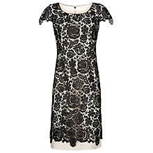Buy Jacques Vert Lace Layer Dress, Black Online at johnlewis.com