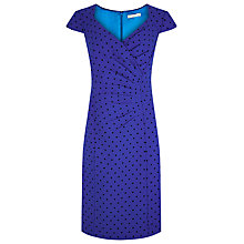 Buy Jacques Vert Polka Dot Dress, Cobalt Online at johnlewis.com