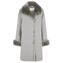 Buy Jacques Vert Short Fur Trim Mac, Mink Online at johnlewis.com