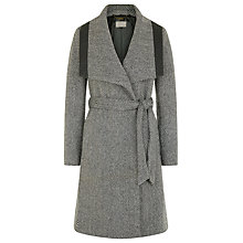 Buy Planet Textured Belted Coat, Multi Dark Online at johnlewis.com