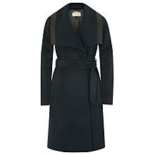 Buy Planet Wrap Belted Coat, Petrol Online at johnlewis.com