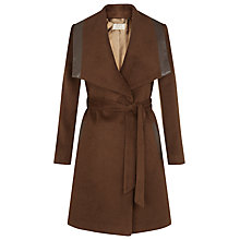 Buy Planet Vicuna Belted Coat, Brown Online at johnlewis.com