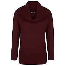 Buy Planet Chunky Roll Neck Jumper, Claret Online at johnlewis.com